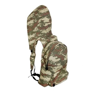Morikukko Basic Military Camo Hooded Backpack