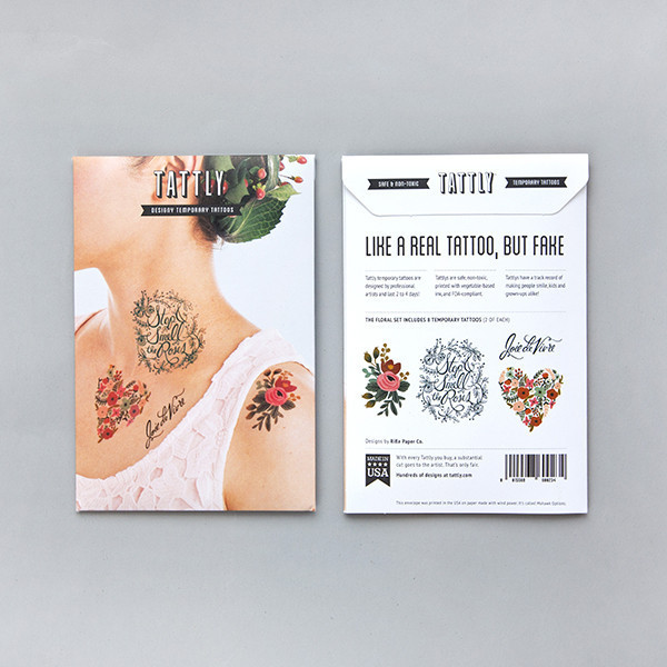 Tattly Floral Temporary Tattoo Set