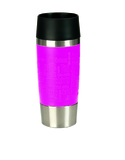 Emsa Quick Press Soft Touch Flask 0.36L Pink