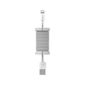 Philo Spool Metal Silver Lightning MFI Cable with Cable Organizer