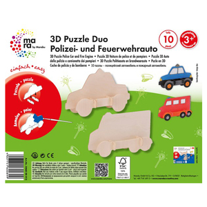 Marabu 3D Puzzle Police Car And Fire Engine
