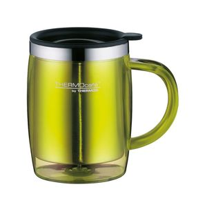 Thermos Stainless Steel With Plastic Cover  Desktop Mug350 ml Lime Green