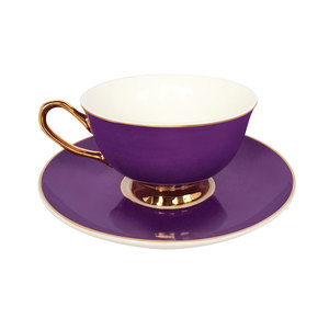 Bombay Duck Teacup & Saucer Perfect Purple