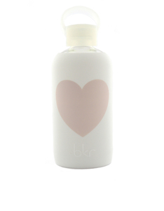 BKR Winter Heart White Water Bottle 500ml