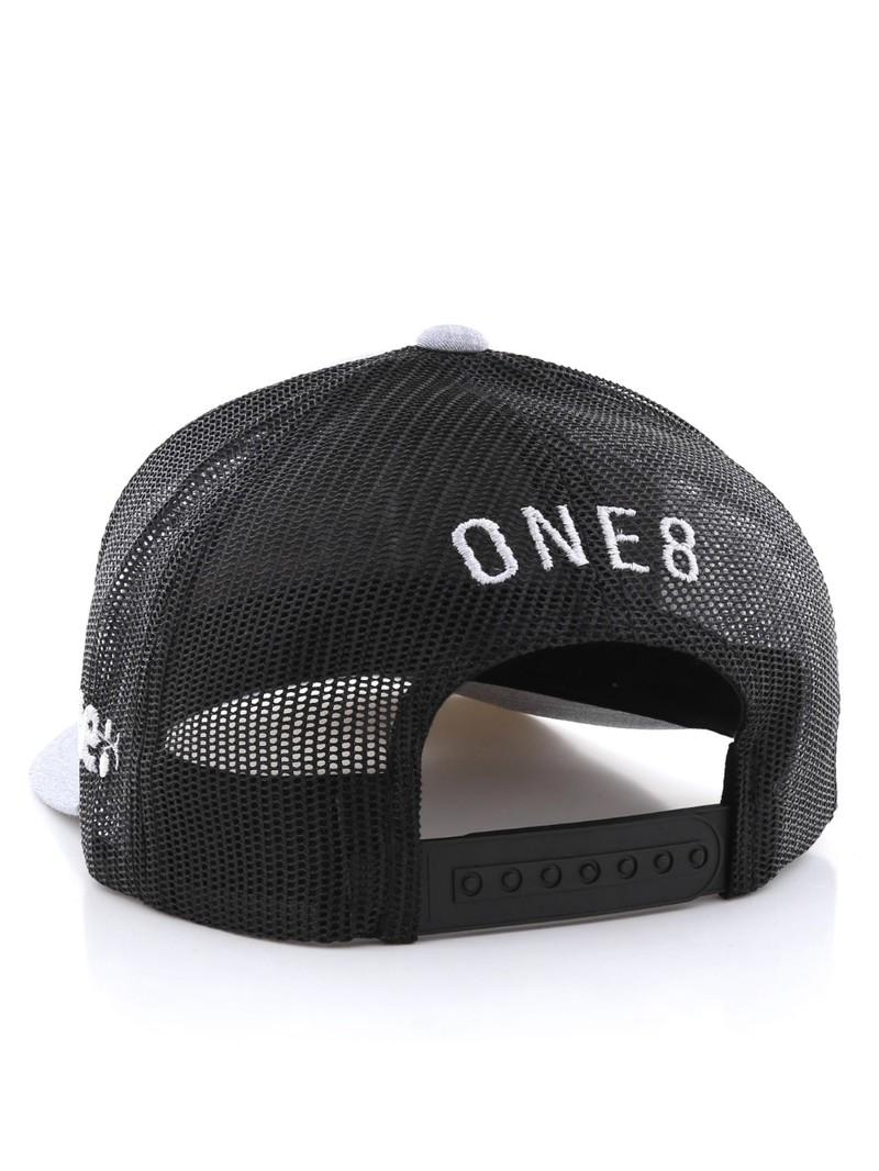... One8 Kafoo Calligraphy Curved Brim Trucker Hat Unisex Cap Osfa ... 0852a40723f2