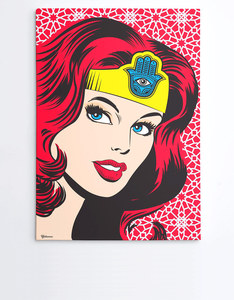 YISLAMOO WONDER WOMAN OF ARABIA A4 WALL ART PRINT