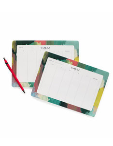 Rifle Paper Co Paintstrokes Weekly Deskpad