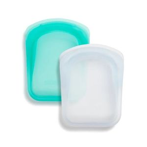 Stasher Pocket Bag Clear + Aqua [2 Pack]