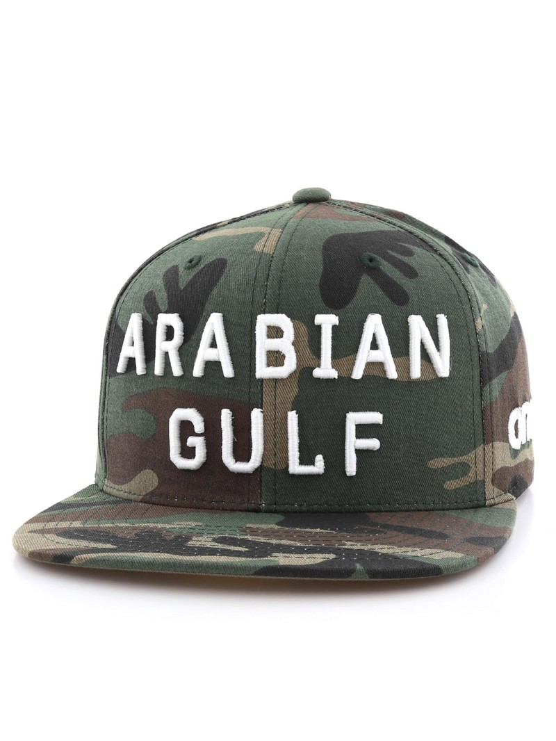 One8 Arabian Gulf English Flat Brim Snapback Unisex Caposfa  5923680707e3
