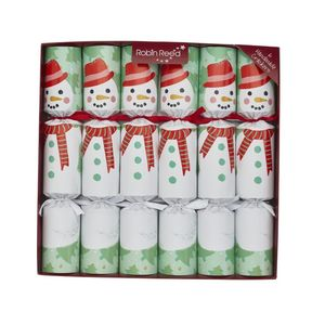Robin Reed Snowman Racing Snowman Christmas Crackers [Set of 6]
