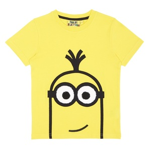 Kevin Applique Yellow Boys T-Shirt