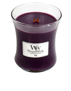 Woodwick Medium Fig Violet Candle