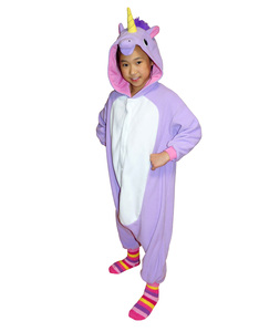 Purple Unicorn Kigurumi Kids Costume