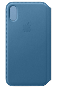 APPLE LEATHER FOLIO CAPE COD BLUE FOR IPHONE XS