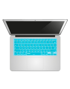 Benaw Glow In Dark English/Arabic Keyboard Cover Turquoise Macbook Air/Pro