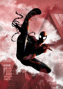 Displate Marvel Spider-Man Dark Edition Metal Poster