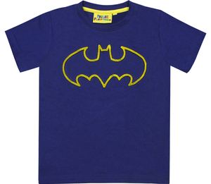 Fabric Flavours Batman Tuft Logo Navy Kids T-Shirt