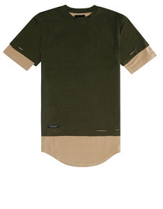 Cayler & Sons Bl Deuces Long Layer Tee Olive/Sand