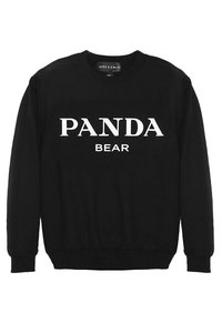 Alex & Chloe Panda Bear Black/White Unisex Jumper