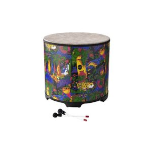 "Remo Kids Percussion Gathering Drum 22"" Diameter 21"" Height Fabric Rain Forest"