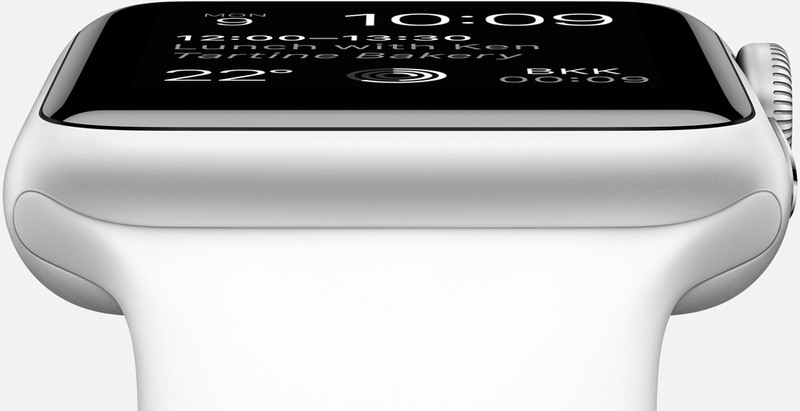 Apple Watch Sport 42mm Silver Aluminum Case White Band