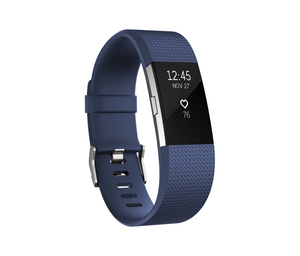 Fitbit Charge 2 Blue/Silver Large Activity Tracker