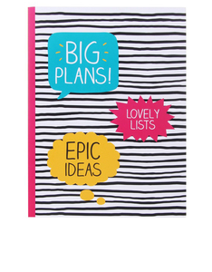 Happy Jackson Large Jotter Big Plans Stripe