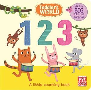 123: A Little Counting Board Book with a Fold-Out Surprise