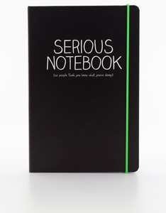 Happy Jackson Serious A5 Notebook Black