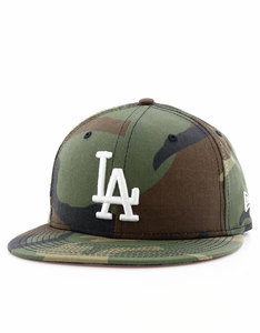 New Era League Essential LA Dodgers Camo Woodland Camo/White Cap