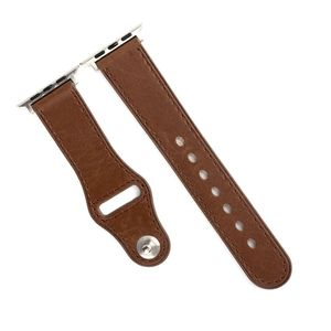 Promate Genio-38 Brown Genuine Leather Strap with Pin-and-Tuck Closure for 38mm Apple Watch