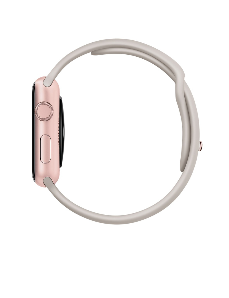 Apple Watch Sport 42mm Rose Gold Aluminum Case Stone Band