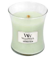 Woodwick Cucumber Melon White Medium Candle