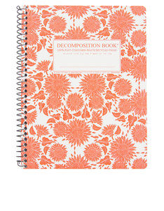 Decomposition Notebook Sunflowers One Color [Large]