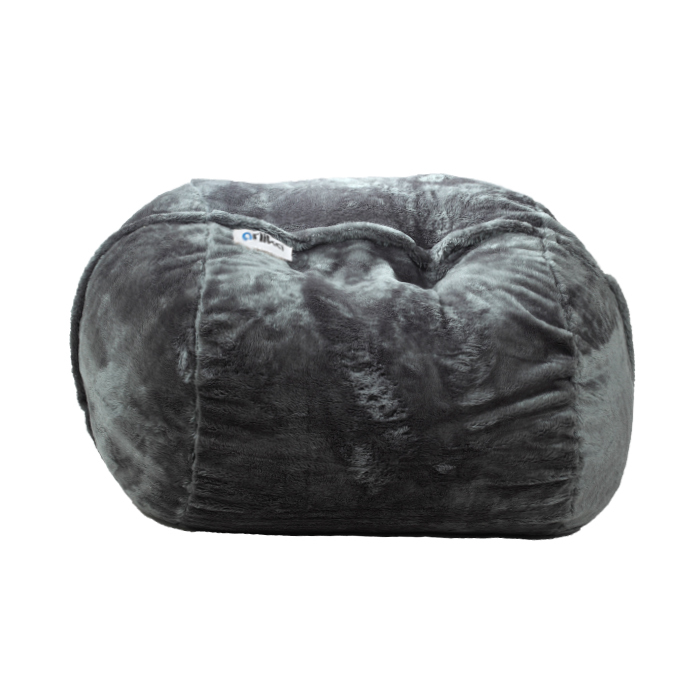 Surprising Ariika Duo Sac Gray Fur Bean Bag Pdpeps Interior Chair Design Pdpepsorg