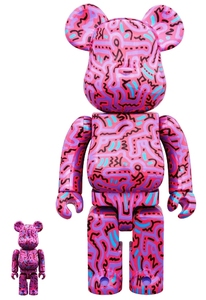 Bearbrick Keith Haring No.2 400/100 Percent Figures [Set of 2]