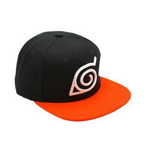 13328f08e6b68 Abystyle Naruto Unisex Snapback Cap Black Orange