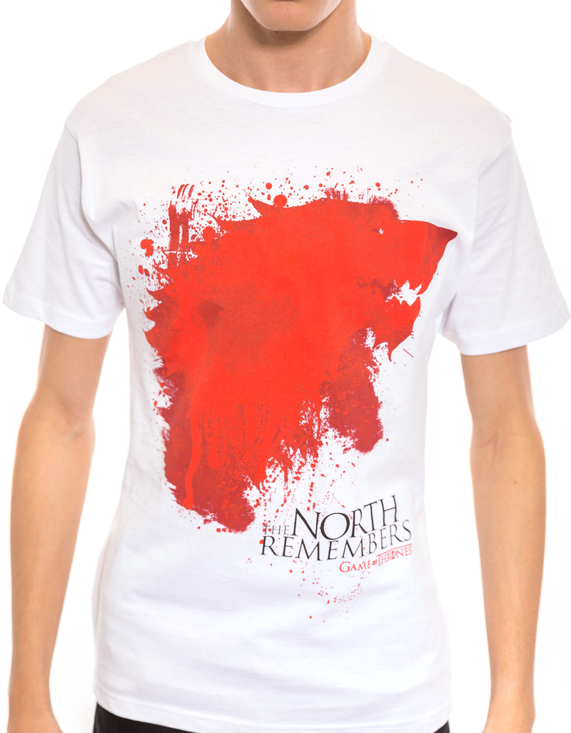 Game Of Thrones The North Remembers White Tshirt L
