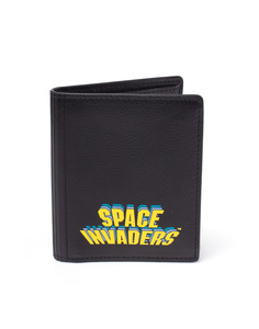 Difuzed Space Invaders Printed Pu Bifold Wallet