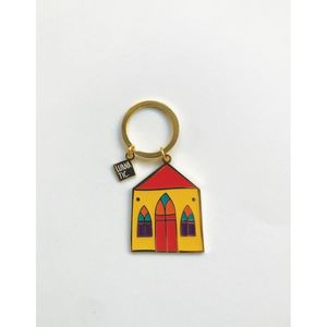 Luanatic House Gold Keychain