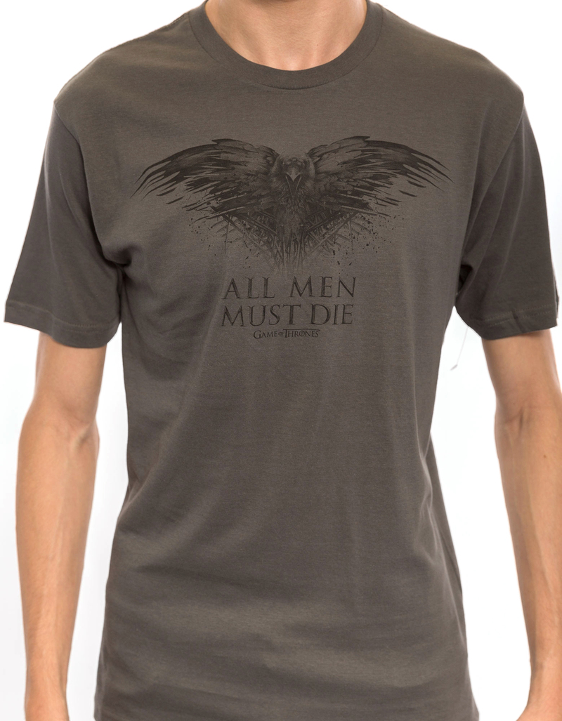 Game Of Thrones All Men Must Die Charcoal Tshirt L