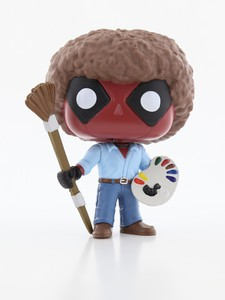 Funko Pop Deadpool As Bob Ross Vinyl Figure