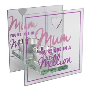 Celebrations Lasting Memories Glass T-Lite Mum In A Million