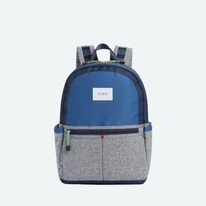 State Bags Kane Color Block Navy/Heather Grey  Backpack