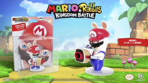 Mario + Rabbids: Kingdom Battle - Rabbid Mario / Lapin Mario: 3 Inch Figurine