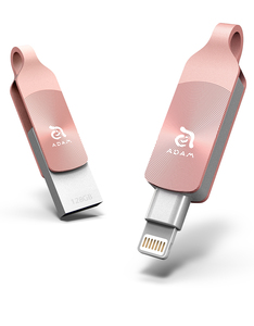 Adam Elements iKlips Duo+ 128GB Rose Gold Mobile Data Storage