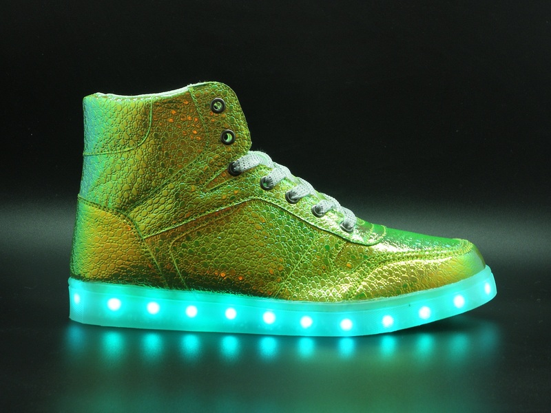 Nat-2 Led Metallic Green Women's Sneakers