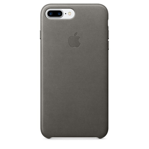 Apple Leather Case Storm Grey iPhone 7 Plus