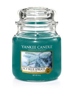 YANKEE CANDLE CLASSIC JAR CANDLE ICY BLUE SPRUCE M