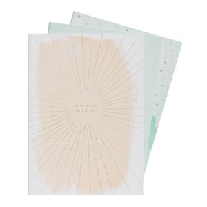 kikki.K A4 Stitch Notebooks 3Pk She Shines Multi-Color